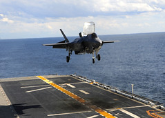 An F-35B Lightning II makes first vertical landing at sea. (Official U.S. Navy Imagery) Tags: atlanticocean