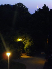 Those Summer Nights (CoffeeNerdie) Tags: summer moon lund path