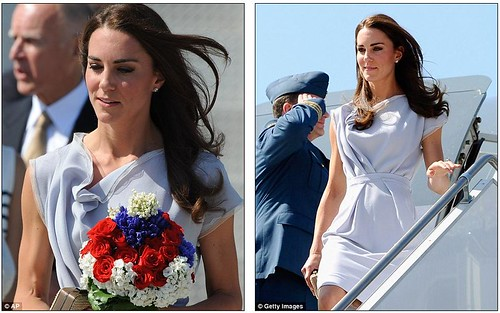 She's a California girl! Royal couple touch down in LA with a splash of red, white and blue as America prepares for Kate-mania  2
