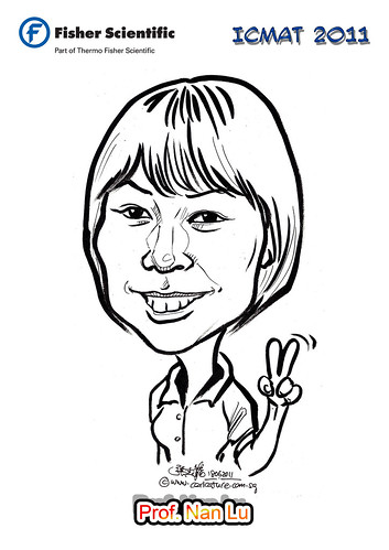 Caricature for Fisher Scientific - Prof. Nan Lu