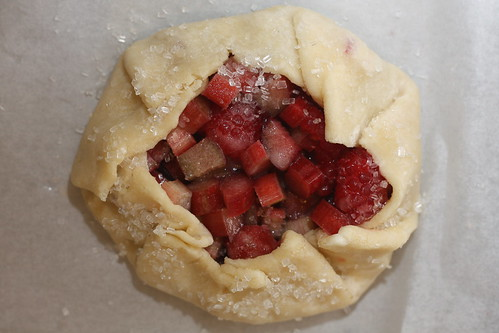 raspberry rhubarb tartlets