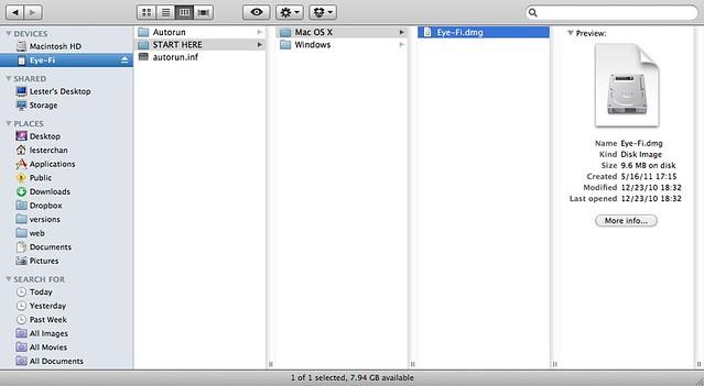 Setup Eye-Fi On Mac