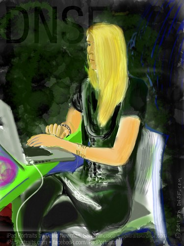 iPad Portrait of Susanna Berggren, Founder of Studentity, Today at SuperHappyDevHouse 45 at Google by DNSF David Newman