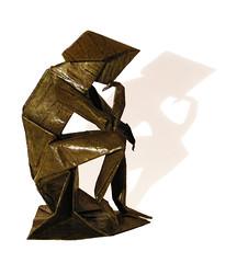 Rodin's thinker (Neal Elias) (Danielle Verbeeten) Tags: art origami thinker elias papier paperfolding rodin denker vouwen papiervouwen neilelias
