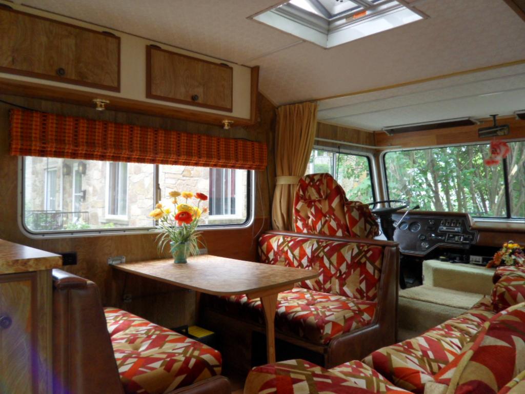 Vintage Motorhome Interior Dinette Opensky83 Tags Pattern Retro Sofa 70s Rv