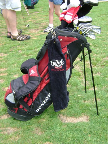 Laura's Badger-Themed Golf Gear