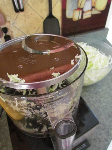 Shred Cabbage with Food Processor