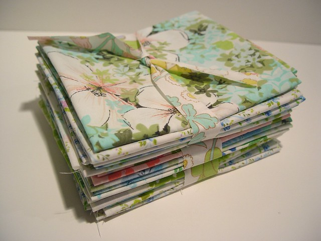 vintage sheet fat quarters
