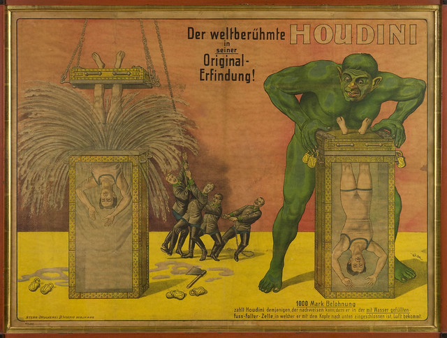 Der Weltberuhmte Houdini poster for his Water Torture Cell debut!
