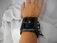 Fashion Cuff (brightcreations1) Tags: black rivets wide jewelry cuff buckledesignercuff