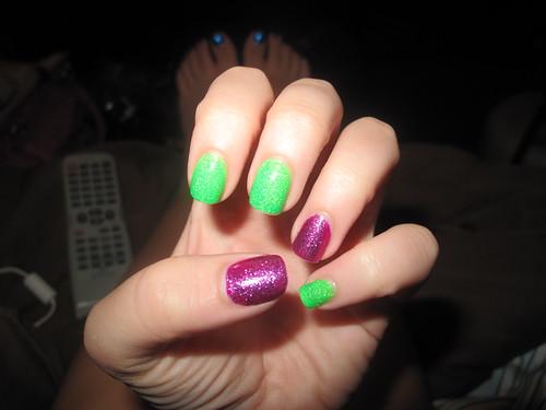 Livingaftermidnite - Glitter Nail Polish OPI Shatter Day 5