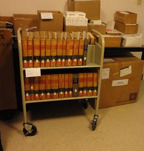 Holding room for Serial Set books