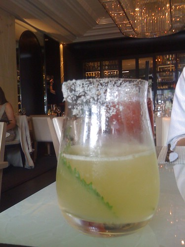 Shiso Lindo cocktail with Resposado tequila at Hawksworth Restaurant