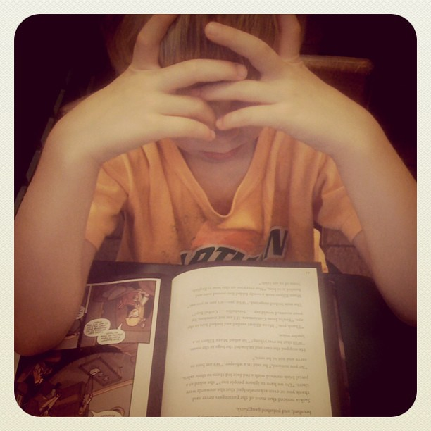 Love, love, love that we can enjoy reading together at the coffee shop!