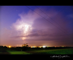 07022011 Beautiful OFB Lightning Storm (StormLoverSwin93   Into the Storm) Tags: sky storm weather night canon stars landscape photography rebel star illinois twilight cg long exposure central trails bolt strike thunderstorm lightning xs severe 1000d