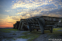 Polluted Skys Behind Articles on Vacant Fields (Echo Eric) Tags: eric pentax echo imaging hdr k20 ecko