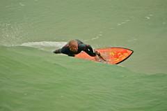 From Behind the Wave (nebulous 1) Tags: california water pier surfer surfing pacificocean huntingtonbeach huntingtonbeachpier