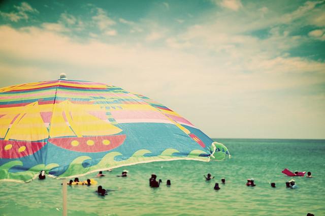 beach going