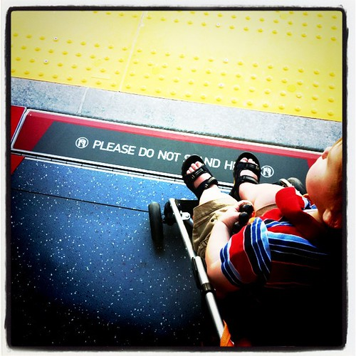 This no stairs entrance on the new TRAX train is very welcomed to this stroller driving Mom. #momaboard @rideuta