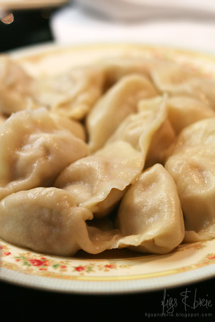 Pork and Cabbage Dumplings, Chinese Noodle Restaurant