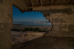 Crusty Hut (Noel Kerns) Tags: california sea abandoned night hut salton