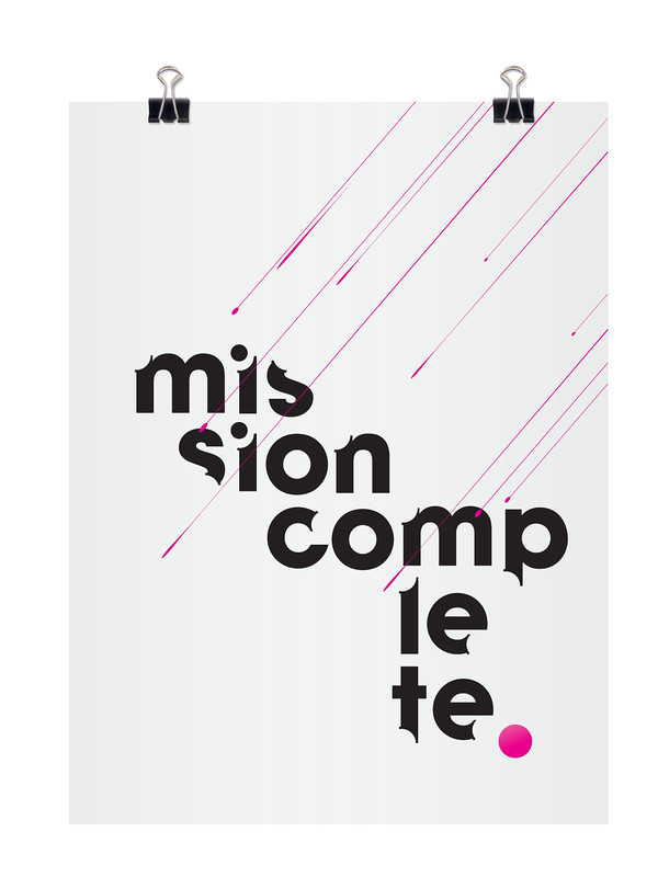 Mission Complete - Typography Design by Jonas Helgeneset via typographyserved