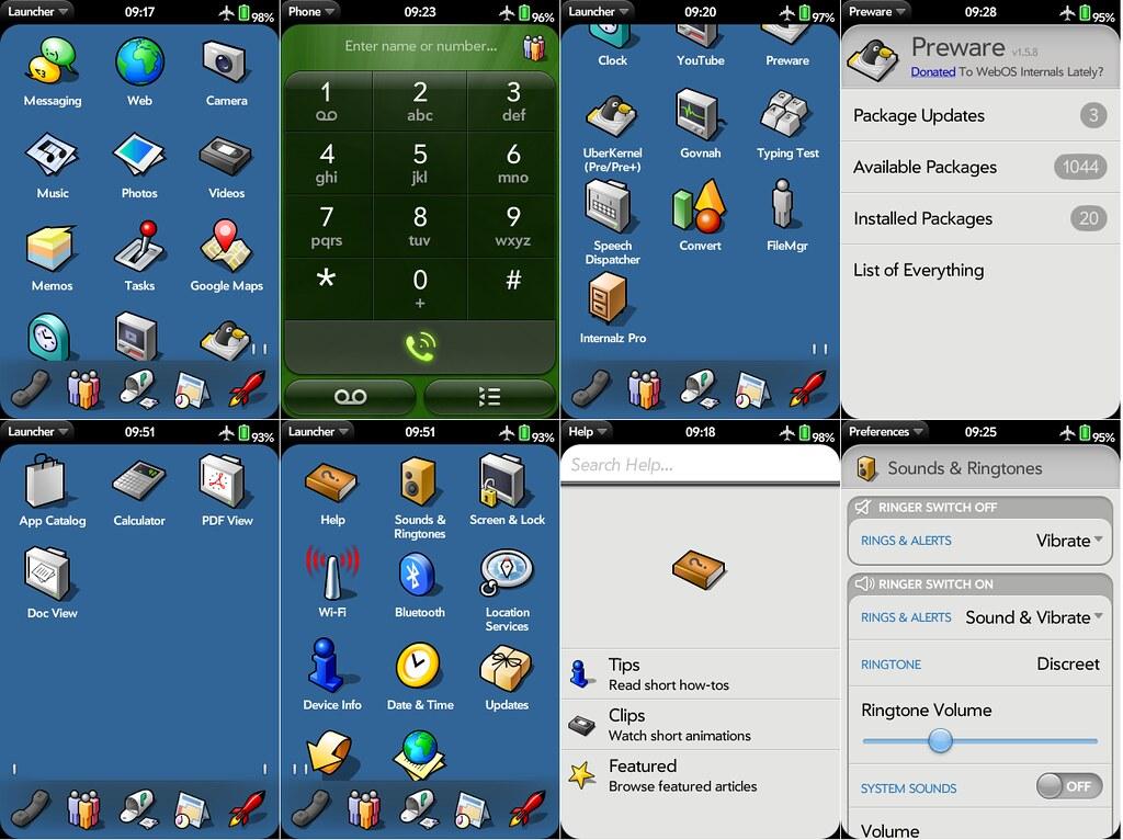 Palm screens, Haiku icons