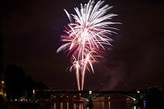 Bleu Blanc Rouge fireworks (RomainPa) Tags: paris france canon fireworks fete tamron bastille feu bastilleday 14juillet courbevoie fetenationale feudartifices tamron1750 canon7d