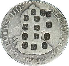 Theophilus Bradbury hallmarks on coin
