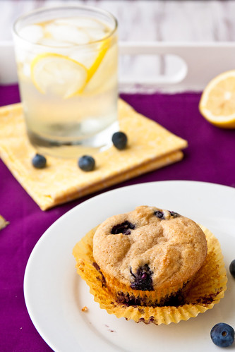 Whole Lemon Muffins with Blueberries