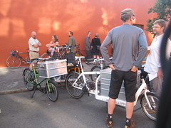 cargobike roll call_07 (METROFIETS) Tags: green beer bike bicycle oregon garden portland construction paint nw box handmade steel weld coat transport craft cargo torch frame pdx custom load cirque woodstove builder haul carfree hpm suppenkuche stumptown paragon stp chrisking shimano custombike cargobike handbuilt beerbike workbike bakfiets cycletruck rosecity crafted 4130 bikeportland 2011 braze longjohn paradiselodge seattlebikeexpo nahbs movebybike kcg phillipross bikefun obca ohbs jamienichols boxbike handmadebike oregonhandmadebikeshow nntma hopworks metrofiets cirqueducycling oregonmanifest matthewcaracoglia palletbike oregonframebuilder seattlebikeshow bikefarmer trailheadcoffee cargobikerollcall