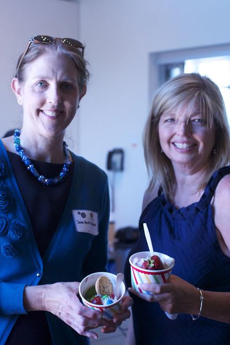 Janis and Cheri at Real California Milk ice cream social