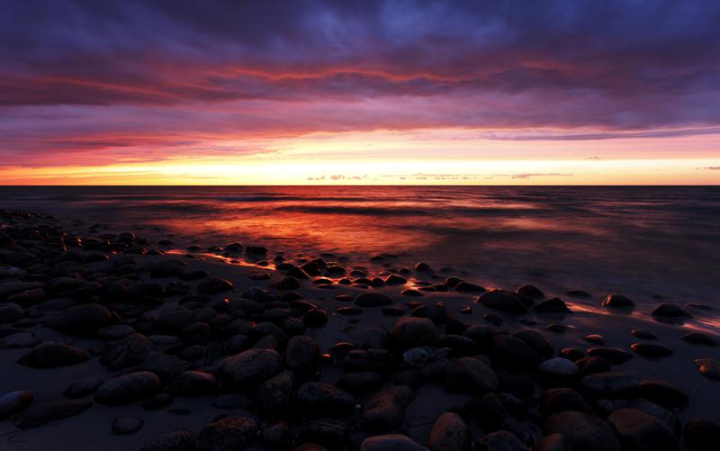 Solnedgång, Anholt