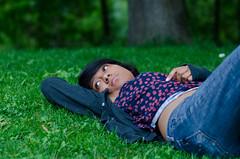 Laura (andreaskoeberl) Tags: portrait people girl grass germany munich bavaria nikon dof bokeh relaxing depthoffield f18 englischergarten 85 nikon85f18 d7000 nikond7000 andreaskoeberl