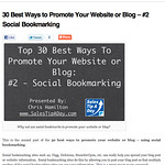 30 Best Ways to Promote Your Website or Blog - #2 Social Bookmarking | Sales Tip A Day thumbnail