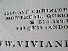 Vivian Doan Letterpress CD Cover