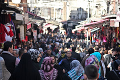 The Crowdy Markets of Istanbul (TheEye4Art) Tags: people canon turkey spring market hijab culture sunny istanbul crowdy 2011