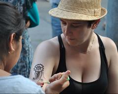 Festival of South Asia ~ Indian Bazaar, July ~ Toronto (Sally E J Hunter) Tags: woman toronto candid littleindia mehndi georgette indianbazaar menhdi festivalofsouthasia मेहँदी मेंहदी