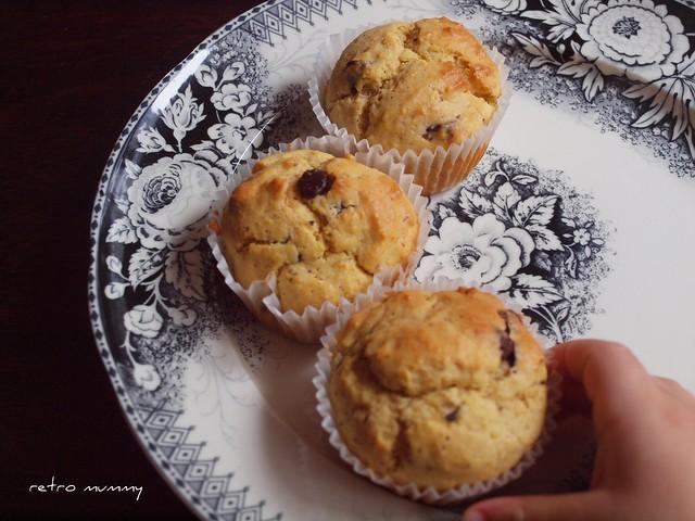 finn sneaks a muffin in