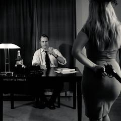 Murder, My Sweet (Spectral Convergence) Tags: bw signs classic mystery blackwhite gun 1940s murder femmefatale dame gumshoe detective thriller oldphone oldhollywood