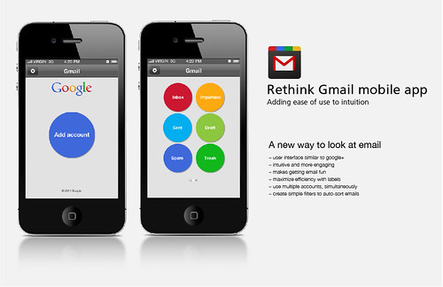 Rethink Gmail mobile app