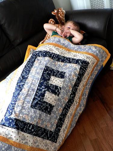 E's school quilt