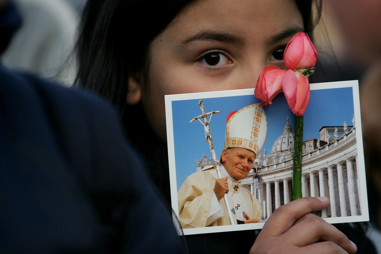 A young devotee of Pope John Paul II