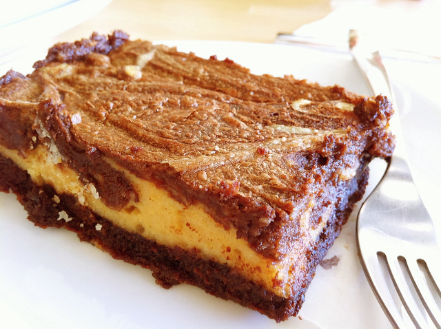 chocolate fudge cheesecake brownie 1
