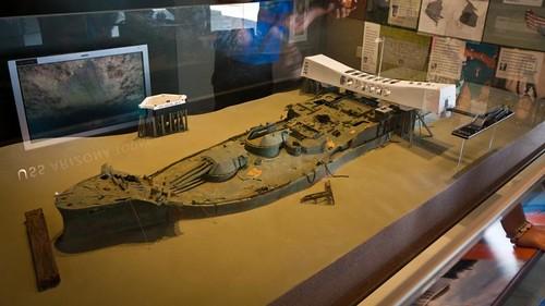 Model of the sunken USS Arizona