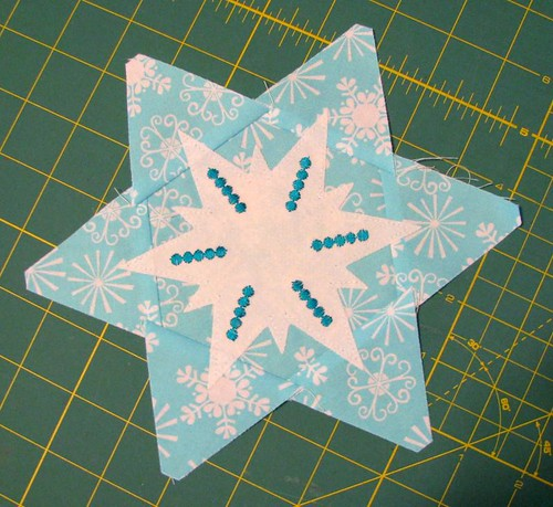 snowflake potholder in progress