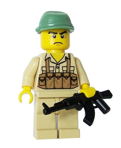 Custom minifig NVA Soldier - miniBIGS Custom Minifigure
