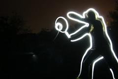 Playing tennis (o_neill) Tags: light man silhouette night painting long exposure tennis