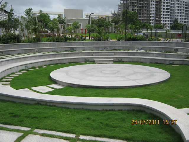 "Amphitheater & Main Entrance of Sobha Carnation - on the day of launch of ""Sobha Garnet - 3 BHK & 4 BHK Flats"" - off NIBM Road -  at Kondhwa - Pune"