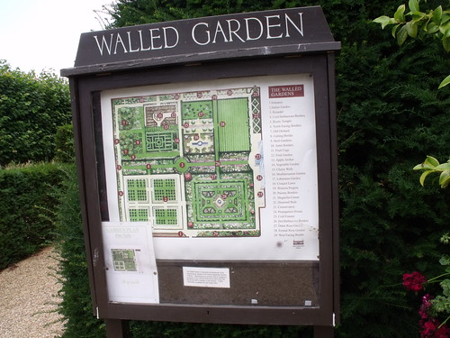 Houghton Hall - Walled Garden - map / garden plan